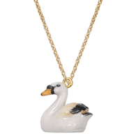 MINIature Swan Necklace, Gold