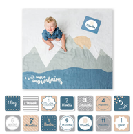 Muslin Blanket & Milestone Card Set, Mountains