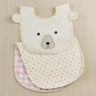 Bear Bib & Burp Set