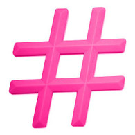Silicone Hashtag Teether, Pink