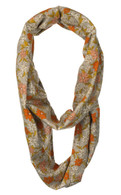 Nursing Scarf, Grey Floral