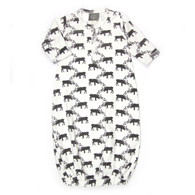 Organic Newborn Gown, Deer
