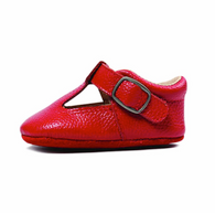 Leather Mary Jane Shoe, Red