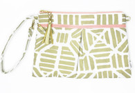 Waterproof Wristlet Clutch, Gold Tribal