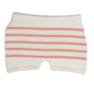 Oeuf Retro Shorts, Peach Stripes