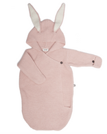 Oeuf Bunny Knit Wrap, Pink