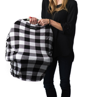 Milk Snob Cover Black Plaid