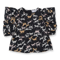 Lua Blouse, Black Horse