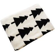 Eco Forest Blanket Cream/Black