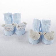 Lullaby Rattle Socks, Blue