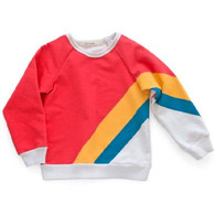 Olympic Stripe Basic Sweatshirt