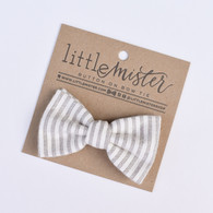 Bow Tie, Charcoal Stripe
