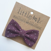 Bow Tie, Cranberry Polka Dot