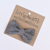 Bow Tie, Denim Polka Dot