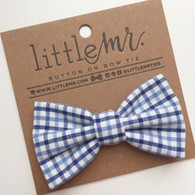 Bow Tie, Blue Plaid