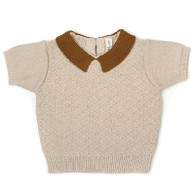 Fin & Vince Knit Collar Top, Honeycomb