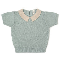 Fin & Vince Knit Collar Top, Seafoam