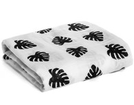 Organic Cotton Muslin Swaddle, Palm Leaves