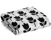 Organic Cotton Muslin Swaddle, Tulips