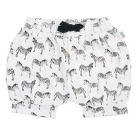 Organic Cotton Baby Shorts, Zebras