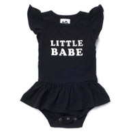 Little Babe Organic Cotton Onesie Dress, Black