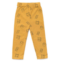 Organic Cotton Brunch Leggings, Mustard
