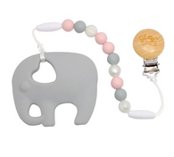 Elephant Teether, Pink