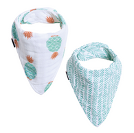 Muslin Bandana Bib Set, Oahu Pineapples