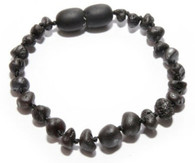 Certified Baltic Amber Teething Bracelet, Black Cherry