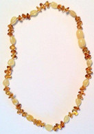 Certified Baltic Amber Teething Necklace, Cognac Chip