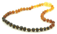 Certified Baltic Amber Teething Necklace, Raw Rainbow