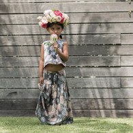 Feather Drum Stone Rose Maxi Skirt