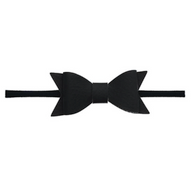Skinny Leather Bow, Black