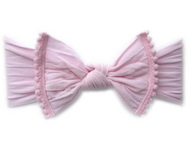 Trimmed Knot Bow, Pink