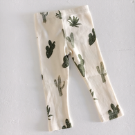 Organic Cotton Baby Leggings, Cactus