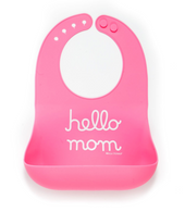 Wonder Bib, Hello Mom/Pink
