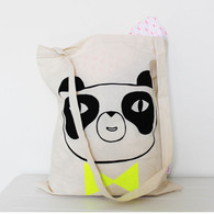 Screen printed panda tote bag - Boy