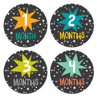 Star Bright Monthly Stickers (12), Lucy Darling
