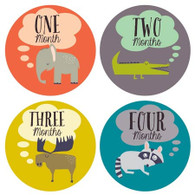 Little Animal Lover Monthly Stickers (12), Lucy Darling