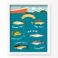Gone Fishin' Art Print, 11 x 14