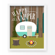 Happy Camper Art Print, 11 x 14