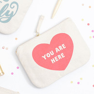 You Are Here Little Canvas Pouch