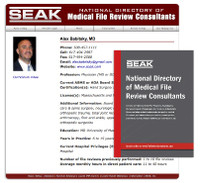 SEAK Directory of Medical File Review Consultants Listing