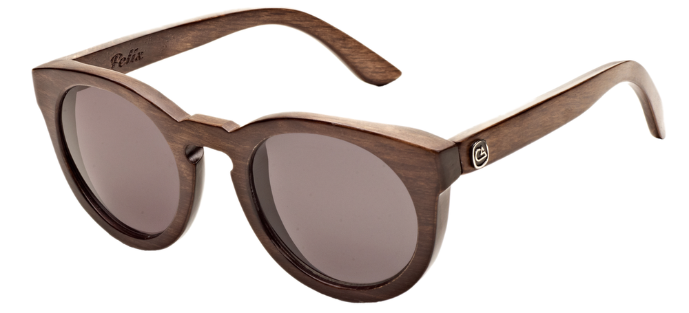 The Felix, cat eye birch wood sunglasses
