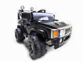 12V Black 2 Speed Hummer Style Jeep + Remote