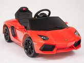 Lamborghini Orange Aventador LP700-4 Ride On Car + Remote