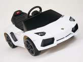 Lamborghini White Aventador LP700-4 Ride On Car + Remote