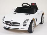Mercedes-Benz SLS AMG Ride On Car + Remote - White