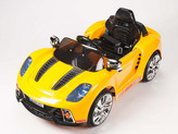 12V Spyder 918 Sports Car With Remote & MP3 In Yellow