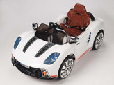 12V Spyder 918 Sports Car With Remote & MP3 In White
